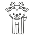cute deer animal tender isolated icon vector image vector image
