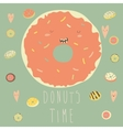 donut with glaze vector image