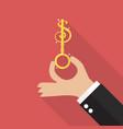 hand hold money key vector image