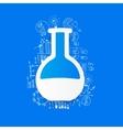 Drawing business formulas tube vector image
