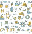 seamless pattern summer vector image