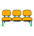 airport seats icon icon cartoon vector image