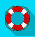lifebuoy icon in flate style isolated on white vector image