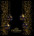 premium christmas holiday background with glitter vector image