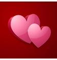 Realistic bright pink Valentines hearts vector image
