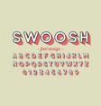 retro style font design vector image