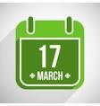 Saint Patricks day flat calendar icon with long vector image