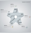 time line info graphic with folded paper star vector image