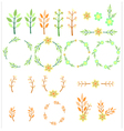 Wedding set with flower vector image