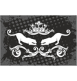 Panther frame with crown vector image vector image