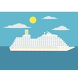 Cruise passenger ship cartoon vector image