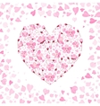 spring background with gentle heart from vector image vector image