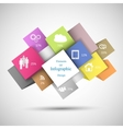Colorful Infographic Cubes vector image