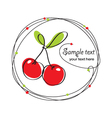 cherry berry frame vector image