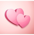 Realistic pastel Valentines hearts vector image vector image