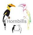 image of an hornbill vector image