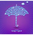 Umbrella with drops vector image