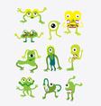Green monster set vector image