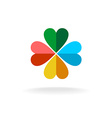Four leaves colorful clover logo vector image vector image