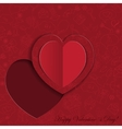 Paper heart card on ornate background vector image