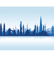 cityscape blue flat vector image vector image
