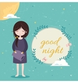 Good night card Cute girl in the sleepwear vector image vector image