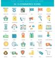 e-commerce color flat icon set Elegant vector image
