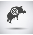 Boar silhouette with target icon vector image