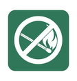 No Fire sign Prohibition open flame symbol vector image
