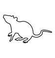 rat black color icon vector image
