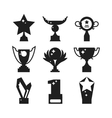 Sports awards black silhouette vector image