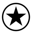 star in circle the black color icon vector image