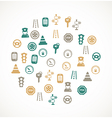 Traffic and driving icons vector image
