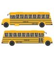 with yellow school bus vector image
