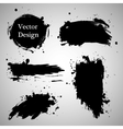 Large grunge elements set Brush strokes banners vector image