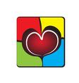 Heart on a broken wall vector image vector image