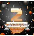 Two years anniversary celebration background with vector image