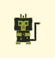 pixel monkey vector image