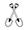 shovel tool icon image vector image