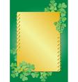 golden clover frame vector image