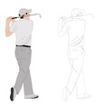 golf player 2 vector image