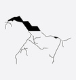 Crack in wall vector image