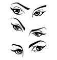 female eyes vector image vector image