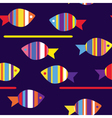 fishes in the water vector image