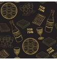 Passover seamless patten background vector image