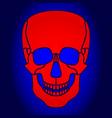 abstract skul icon vector image