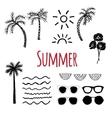 hand drawn summer vector image