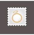 Orange stamp Outline vector image