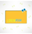 Quotation background with quote sign Yellow text vector image