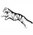running tiger vector image